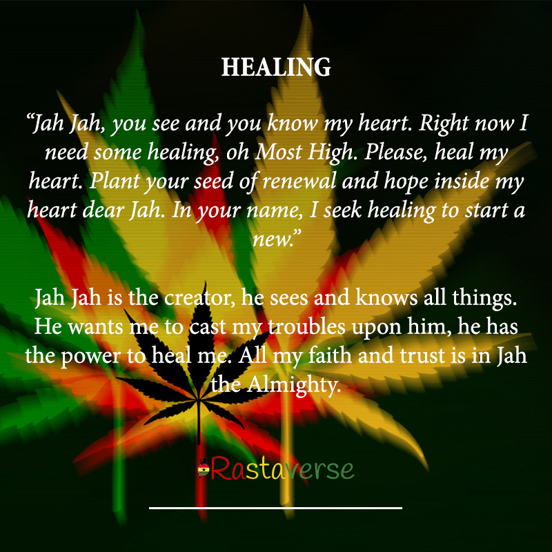 Jah Rastafari Quotes: Healing Rasta Prayer